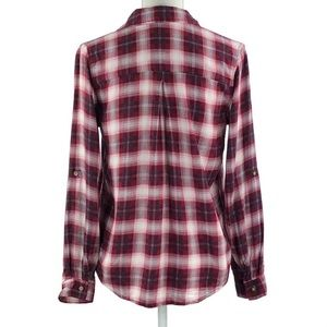 Polly & Esther Tops - POLLY & ESTHER | Red & Black Plaid Shirt